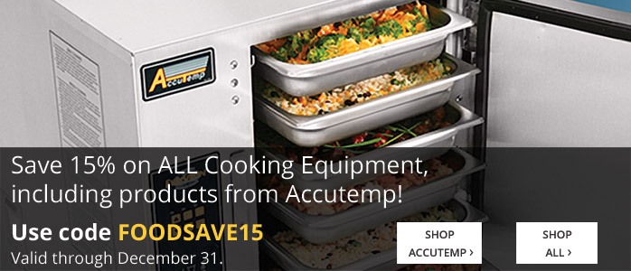 15% off Cooking Equipment