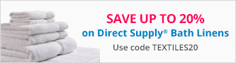 20% off Direct Supply Bath Linens