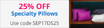 25% off Specialty Pillows