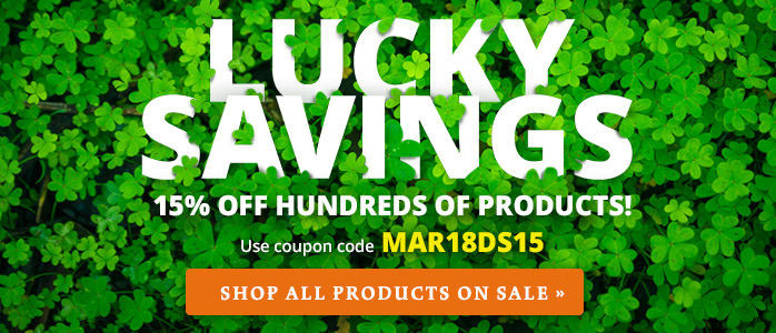 15% off Hundreds of Products