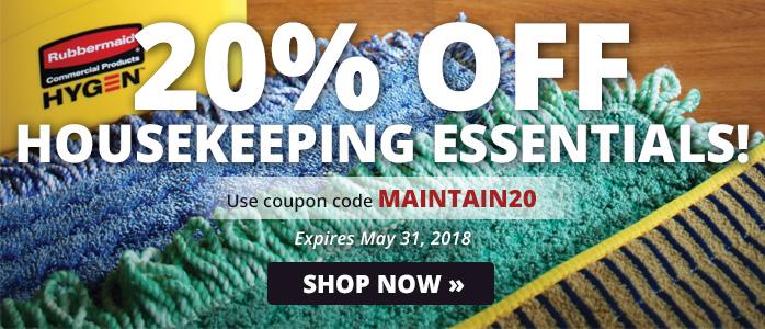 20% off Housekeeping