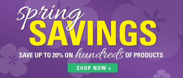 20% off Hundreds of Products