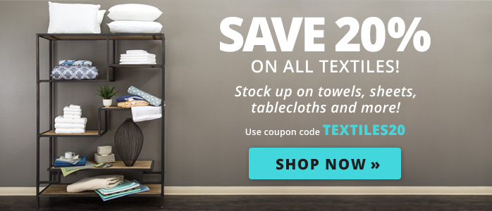 Save 20% on All Textiles