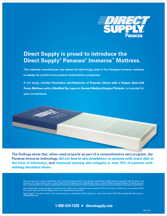 Panacea Immerse Mattress – Pressure Ulcer Prevention Study