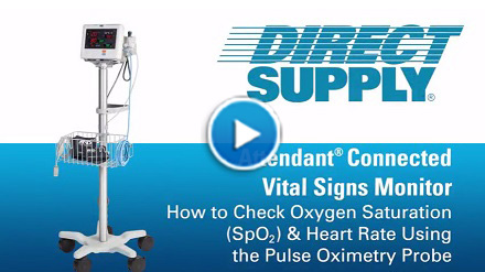 Attendant Vital Signs Monitor Oxygen Saturation