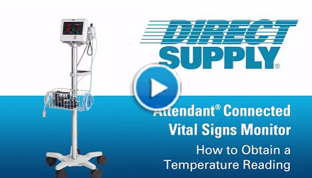 Attendant Vital Signs Monitor Temperature Reading
