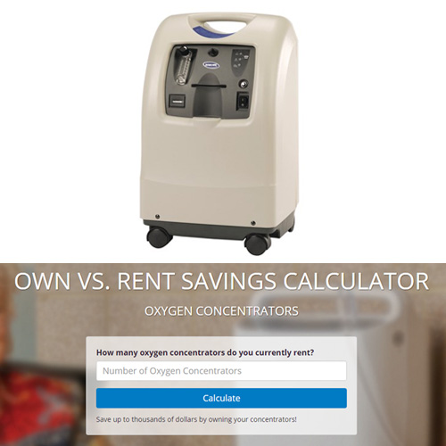 Oxygen Concentrators: Own vs. Rent Savings Calculator