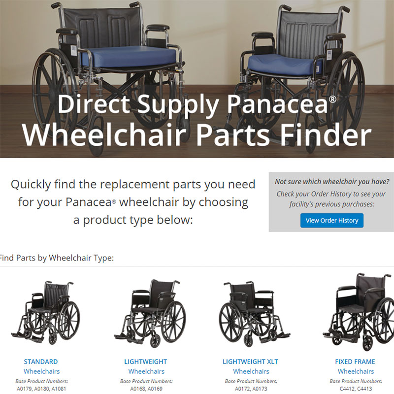 Panacea Wheelchair Parts Finder